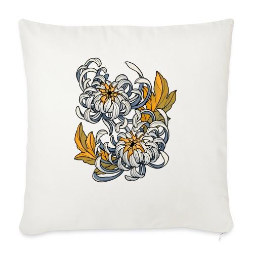 Chrysanthèmes enlacés - Coussin et housse de 45 x 45 cm