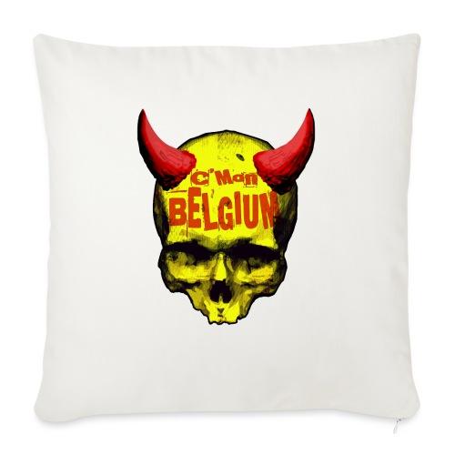 Belgium Devil 2 - Bankkussen met vulling 44 x 44 cm
