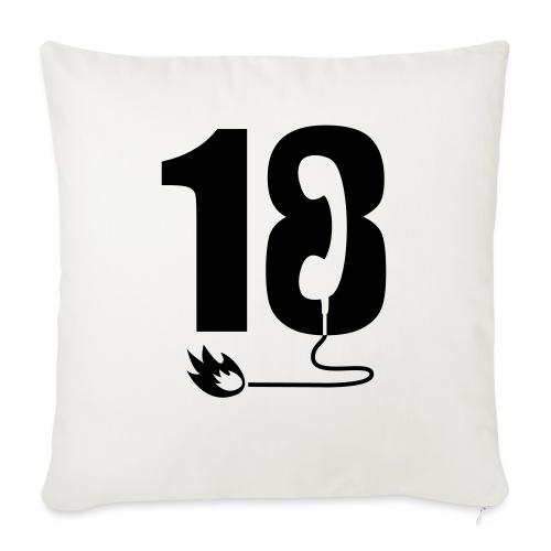 18 - Coussin et housse de 45 x 45 cm