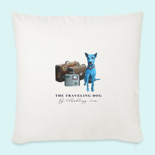Laly Blue Big - Sofa pillow with filling 45cm x 45cm