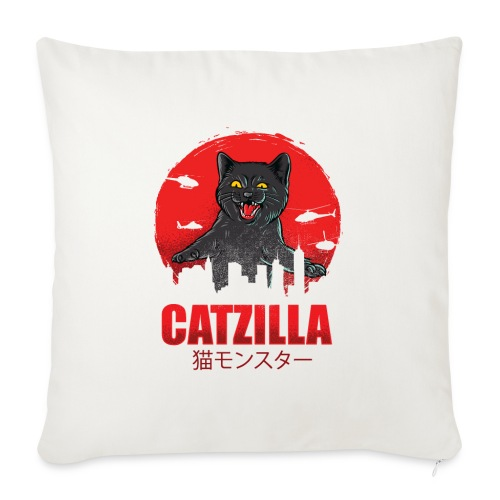 Catzilla Katzen Horror B-Movie Parodie - Sofakissen mit Füllung 44 x 44 cm