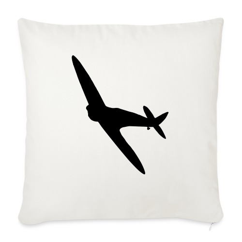 Spitfire Silhouette - Sofa pillow with filling 45cm x 45cm
