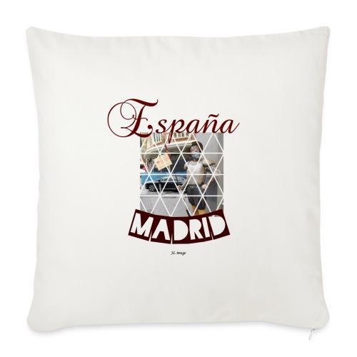España madrid - Cojín de sofá con relleno 44 x 44 cm