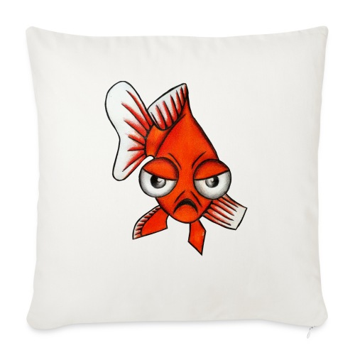 Angry Fish - Coussin et housse de 45 x 45 cm