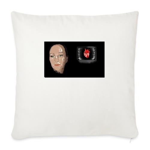 Digital heart - Sofapute med fylling 44 x 44 cm