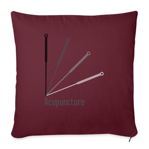 Acupuncture Eventail (logo noir) - Coussin et housse de 45 x 45 cm