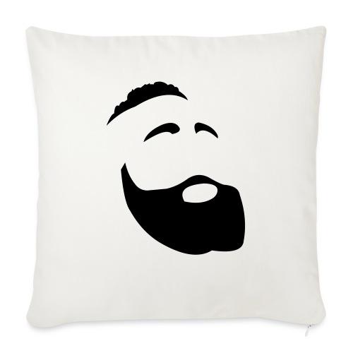 Il Barba, the Beard black - Cuscino da divano 44 x 44 cm con riempimento