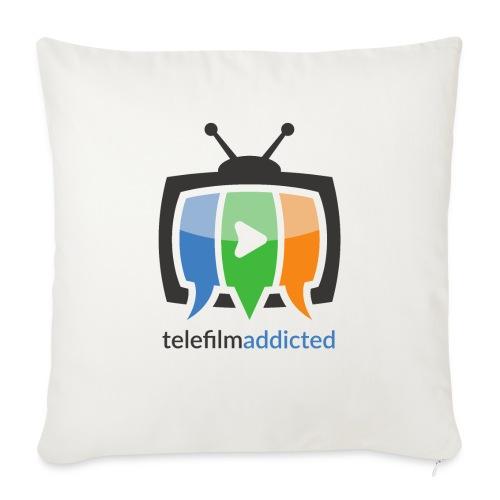 Telefilm Addicted Logo - Cuscino da divano 44 x 44 cm con riempimento