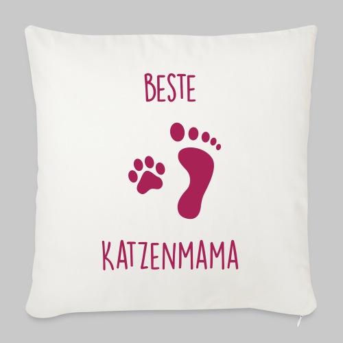 Beste Katzenmama - Sofakissen mit Füllung 44 x 44 cm