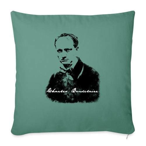 Charles Baudelaire - Coussin et housse de 45 x 45 cm