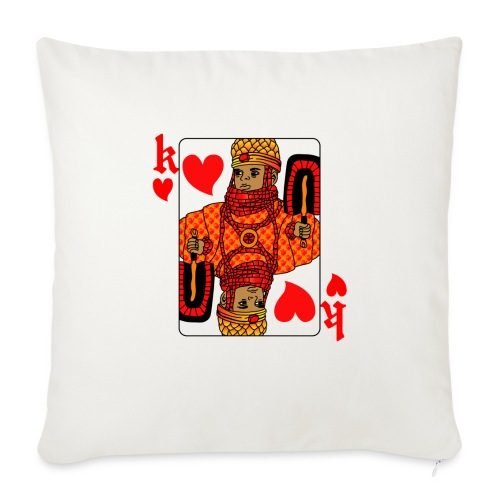 King of hearts - Sofa pillow with filling 45cm x 45cm