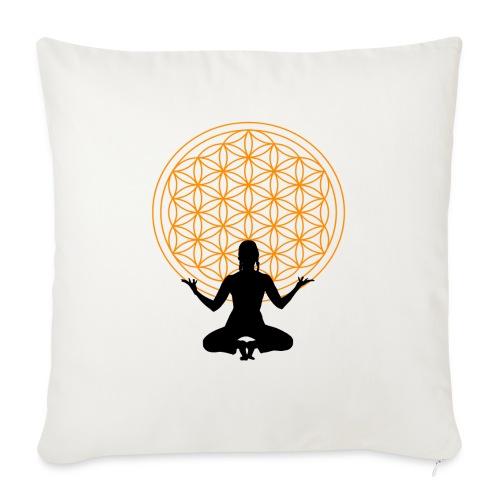 fleur de vie yoga 3 - Coussin et housse de 45 x 45 cm
