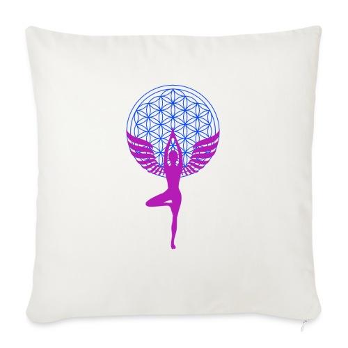 fleur de vie yoga n°1 - Coussin et housse de 45 x 45 cm