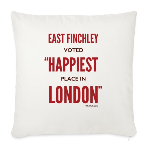 East Finchley Happiest Place in London - Sofa pillow with filling 45cm x 45cm