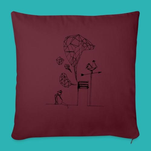 Carta_gatta-png - Cuscino da divano 44 x 44 cm con riempimento