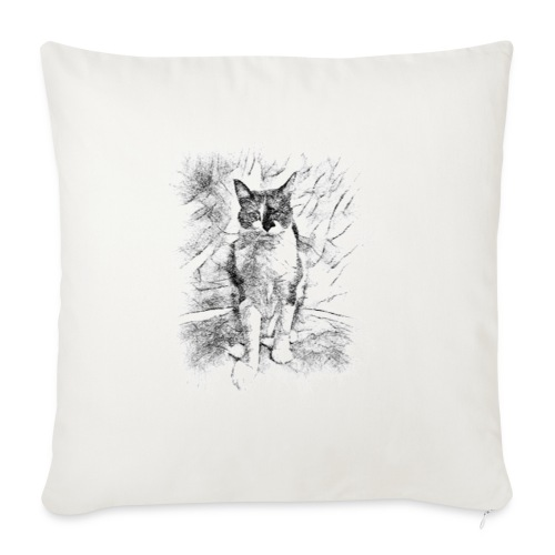 le chat prend la pose - Coussin et housse de 45 x 45 cm