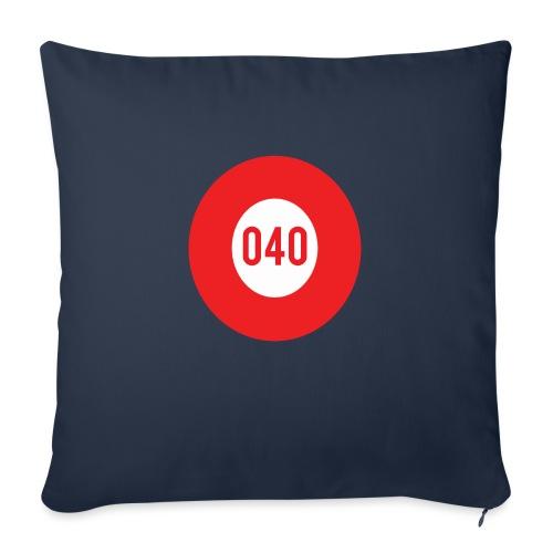 040 logo - Bankkussen met vulling 44 x 44 cm
