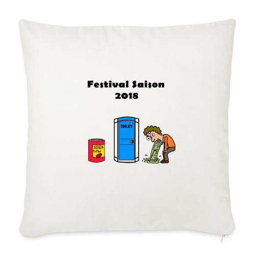 Festivalsaison 2018 - Sofakissen mit Füllung 44 x 44 cm