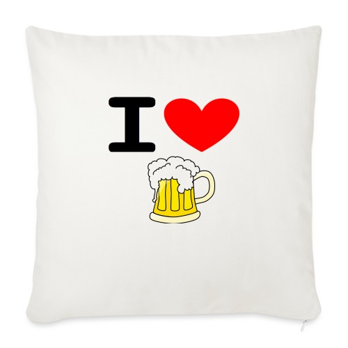 I love bier - Sofakissen mit Füllung 44 x 44 cm