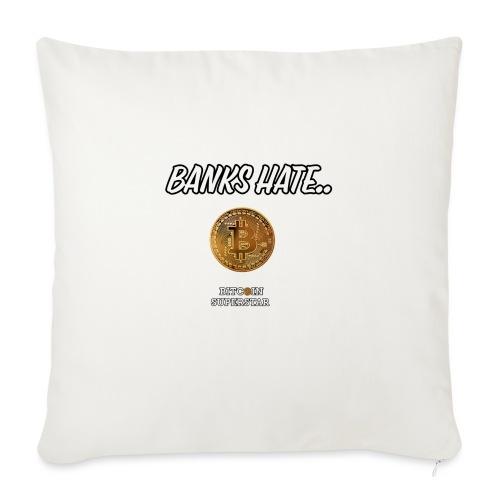 Baks hate - Cuscino da divano 44 x 44 cm con riempimento