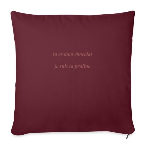 Tu es mon chocolat - Coussin et housse de 45 x 45 cm
