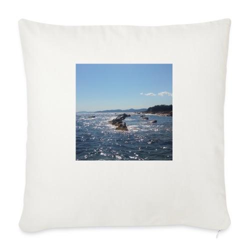 Mer avec roches - Coussin et housse de 45 x 45 cm
