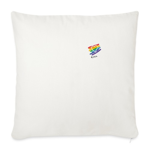 Rita color - Cojín de sofá con relleno 44 x 44 cm