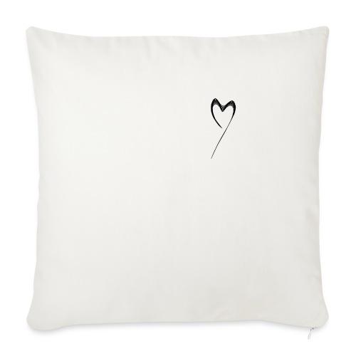 Line Heart - Cojín de sofá con relleno 44 x 44 cm