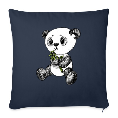 Panda bear colored scribblesirii - Sofa pillow with filling 45cm x 45cm