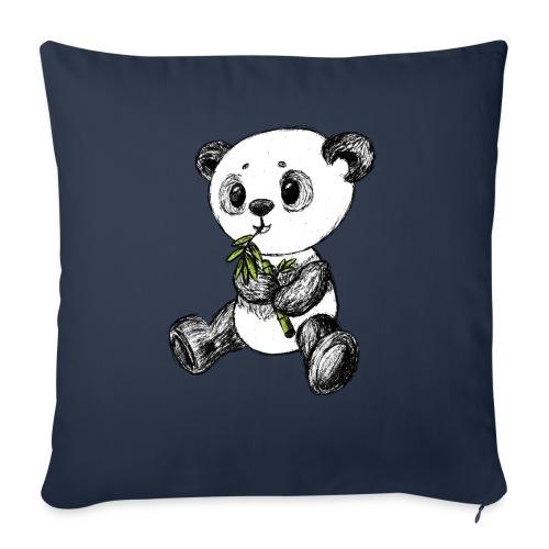 Panda bjørn farvet scribblesirii - Sofapude med fyld 44 x 44 cm