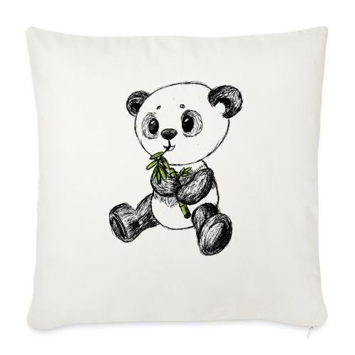 Panda bear colored scribblesirii - Sofa pillow with filling 45cm x 45cm