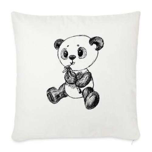 Panda Karhu musta scribblesirii - Sohvatyynyt täytteellä 44 x 44 cm