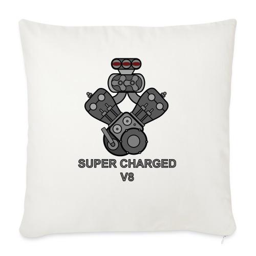 V8 SUPER CHARGED - Cuscino da divano 44 x 44 cm con riempimento