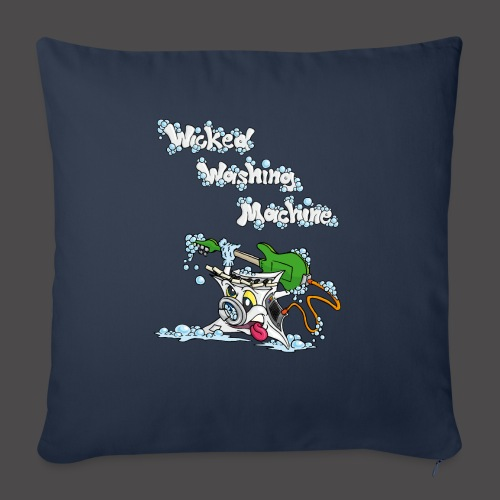 Wicked Washing Machine Cartoon and Logo - Bankkussen met vulling 44 x 44 cm