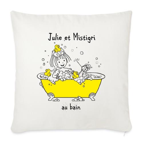 Julie et Mistigri au bain - Coussin et housse de 45 x 45 cm