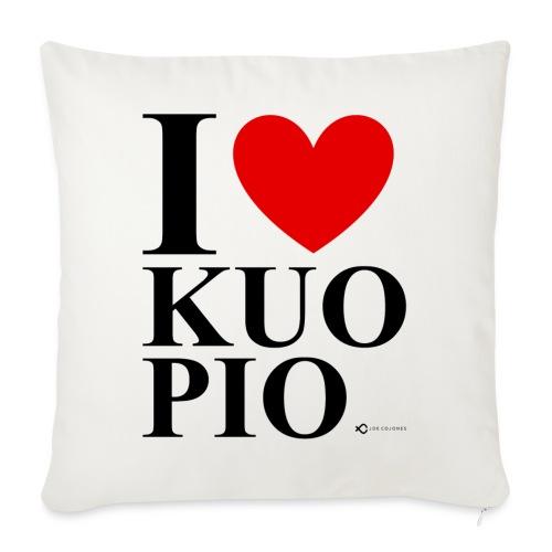 I LOVE KUOPIO ORIGINAL (musta) - Sohvatyynyt täytteellä 44 x 44 cm