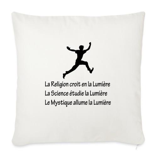 Lumière Religion Science Mystique - Coussin et housse de 45 x 45 cm