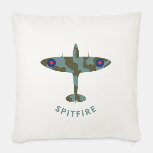 Spitfire fighter plane - Sofa pillow with filling 45cm x 45cm
