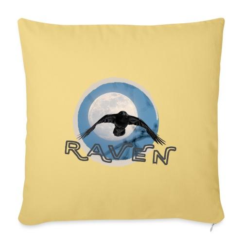 Australian Raven Full Moon - Sofa pillow with filling 45cm x 45cm