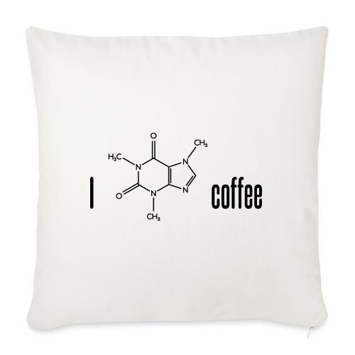 Ich liebe Kaffee - mit Koffein-Molekül - Sofakissen mit Füllung 44 x 44 cm