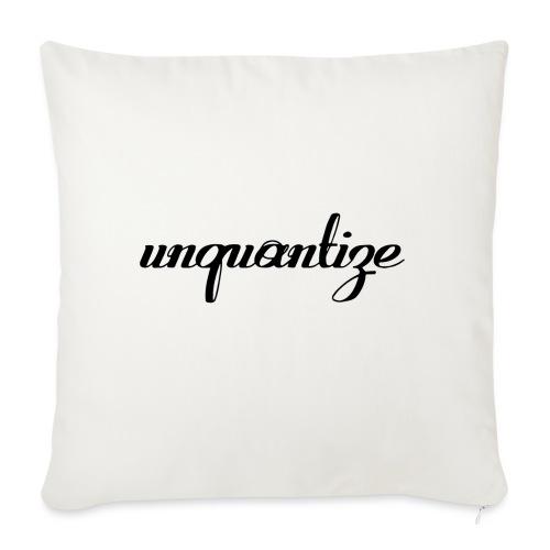 unquantize black logo - Sofa pillow with filling 45cm x 45cm