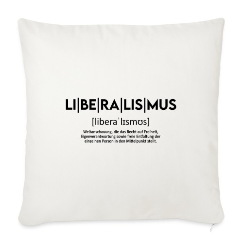 LI|BE|RA|LIS|MUS - Sofakissen mit Füllung 44 x 44 cm