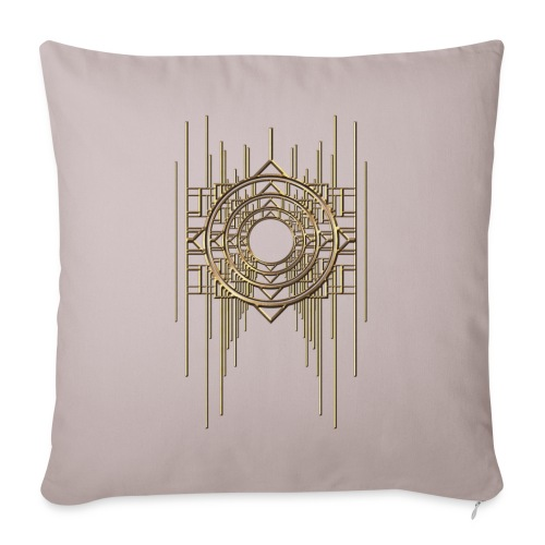 Abstract & Geometric - Gold Metal - Sofa pillow with filling 45cm x 45cm