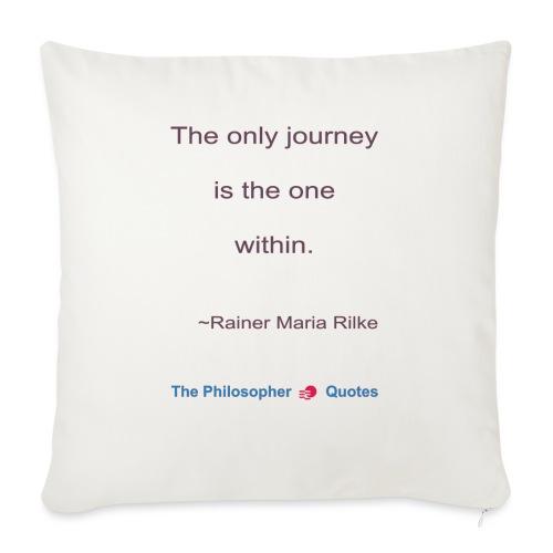 Rainer Maria Rilke The journey within Philosopher - Bankkussen met vulling 44 x 44 cm