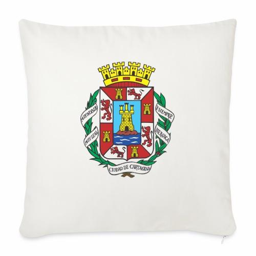 Escudo Cartagena - Cojín de sofá con relleno 44 x 44 cm