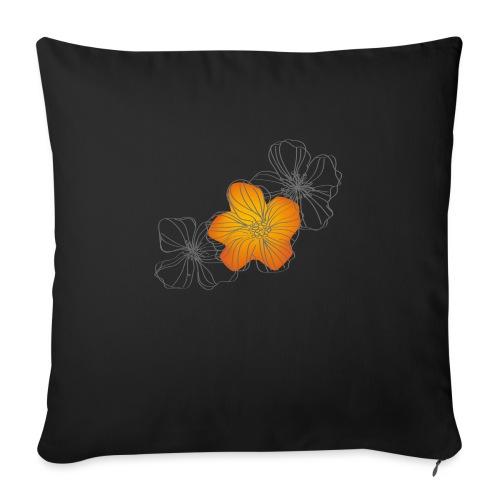 Flowers - Cojín de sofá con relleno 44 x 44 cm