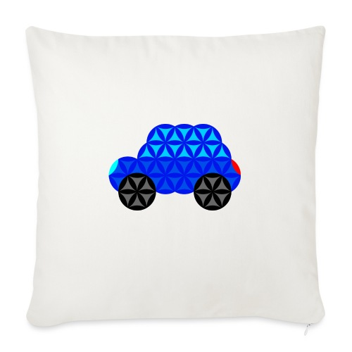 The Car Of Life - M01, Sacred Shapes, Blue/R01. - Sofa pillow with filling 45cm x 45cm