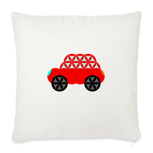 The Car Of Life - M01, Sacred Shapes, Red/R01. - Sofa pillow with filling 45cm x 45cm