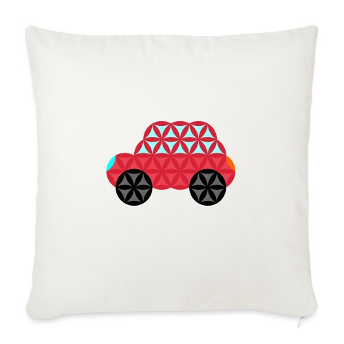 The Car Of Life - M02, Sacred Shapes, Red/186 - Sofa pillow with filling 45cm x 45cm