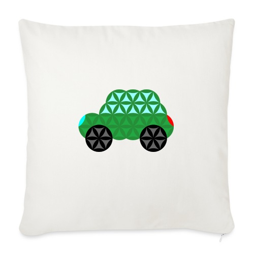 The Car Of Life - M02, Sacred Shapes, Green/363 - Sofa pillow with filling 45cm x 45cm